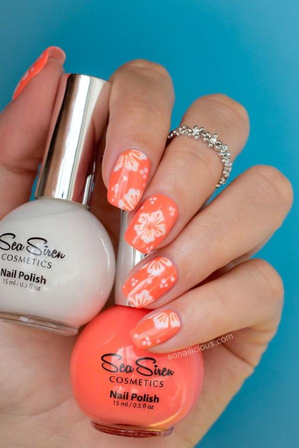 Elegant Flower Nail Designs For Summer